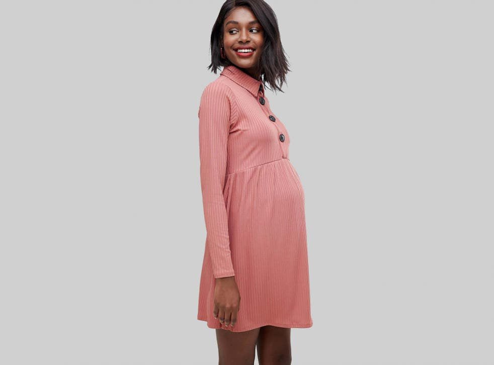 Alongside leggings, maternity jeans and a long silk scarf (useful for discreet feeding afterwards), investing in some easy to wear yet still elegant maternity dresses should see you through