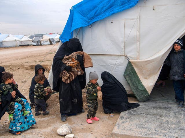 More than 2,500 children, from families 'with links to Isis' are in refugee camps, SCF says