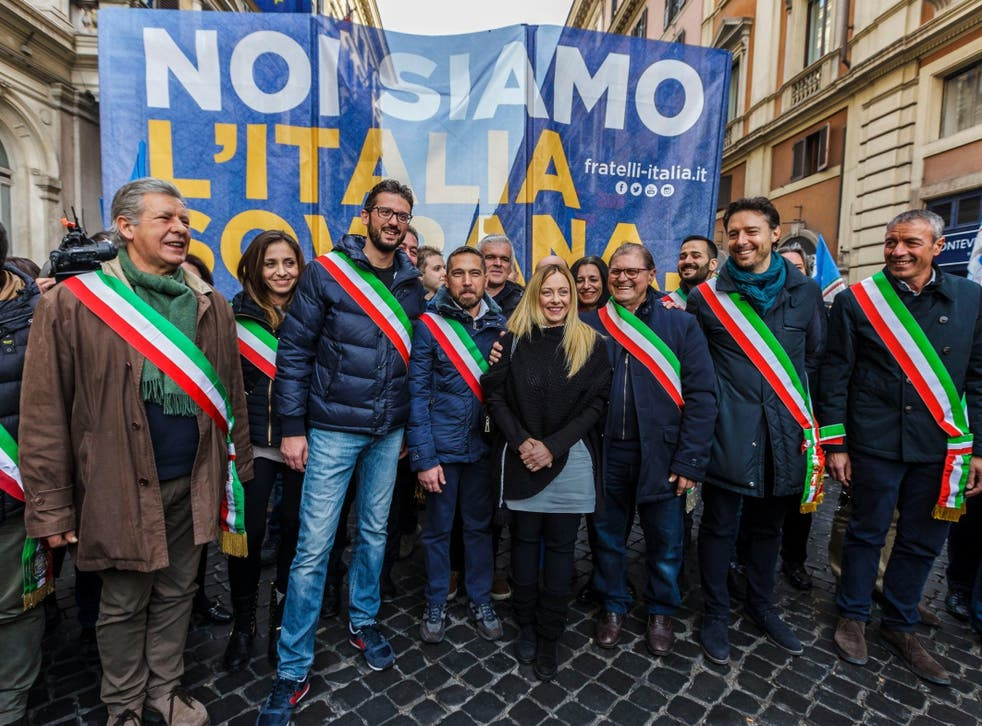 In Italy, up and coming neo-fascist party Fratelli d'Italia is led by a woman: the young and photogenic Giorgia Meloni