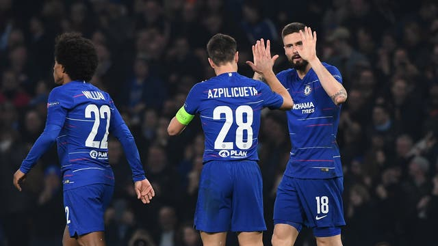 The Blues advanced to the last-16 of the Europa League