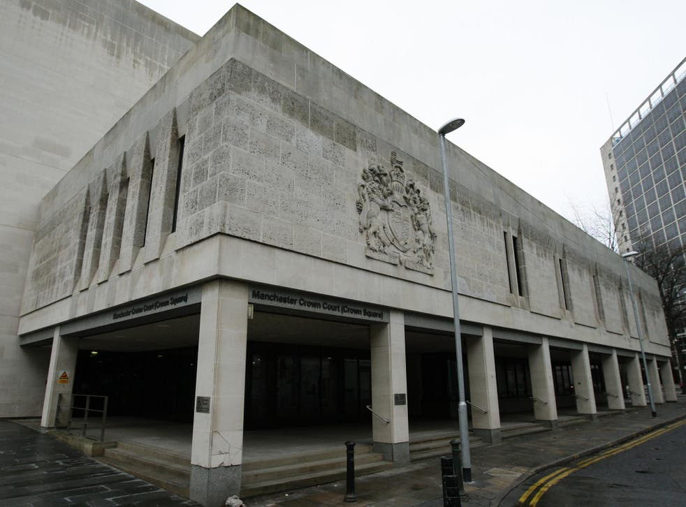 The Salford gangland shooting trial is taking place at Manchester Crown Court, Crown Square