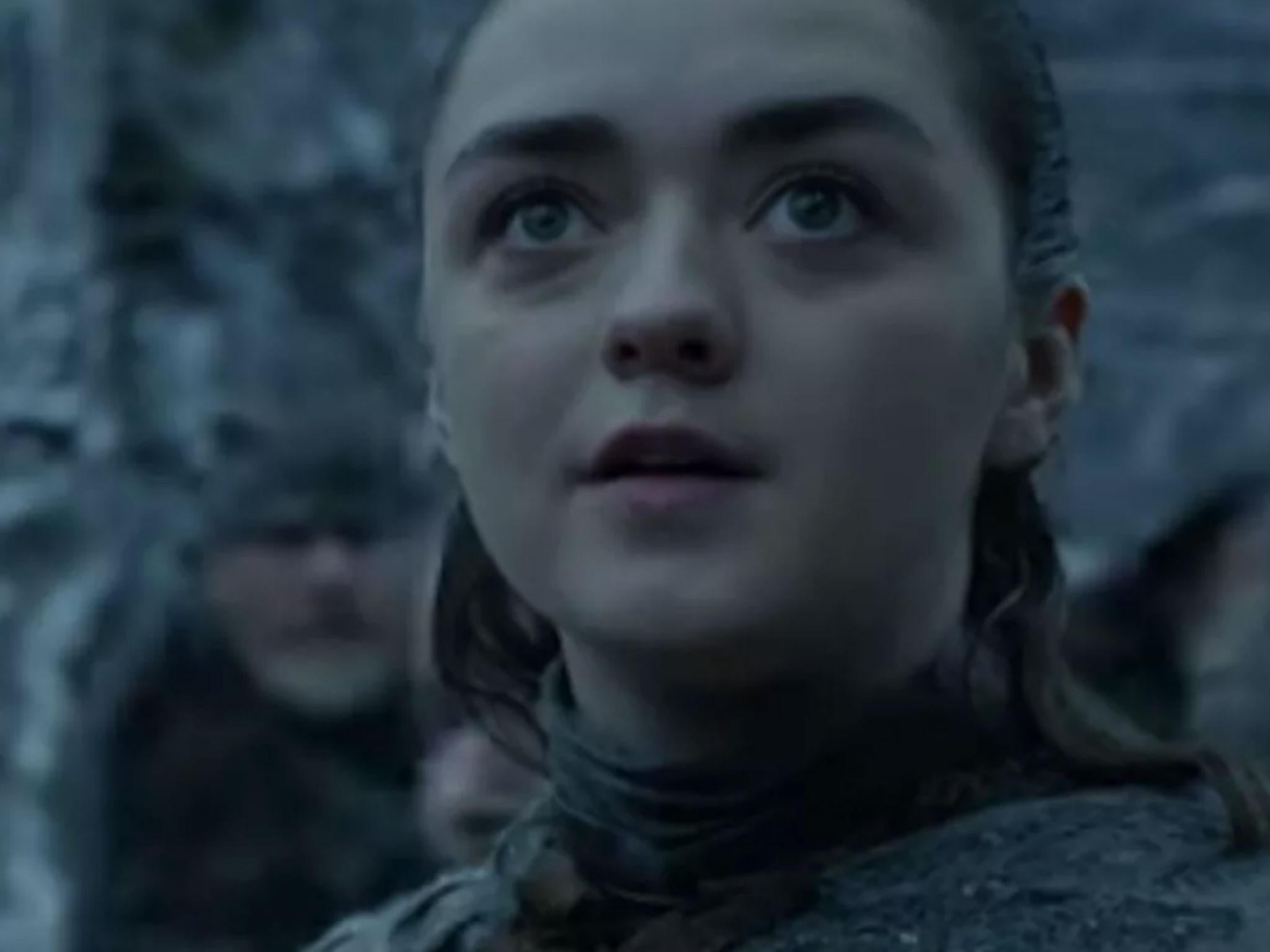 Game Of Thrones Season 8 Arya Stark Sees Dragon For First Time In