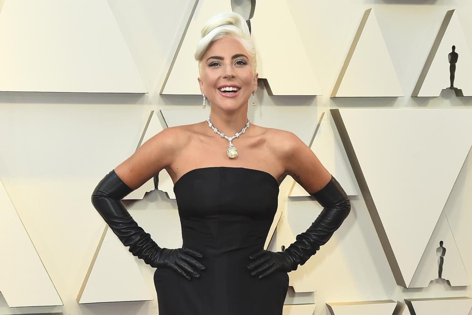 Lady Gaga rumoured to be wearing Audrey Hepburn's 128-carat Tiffany diamond on red carpet