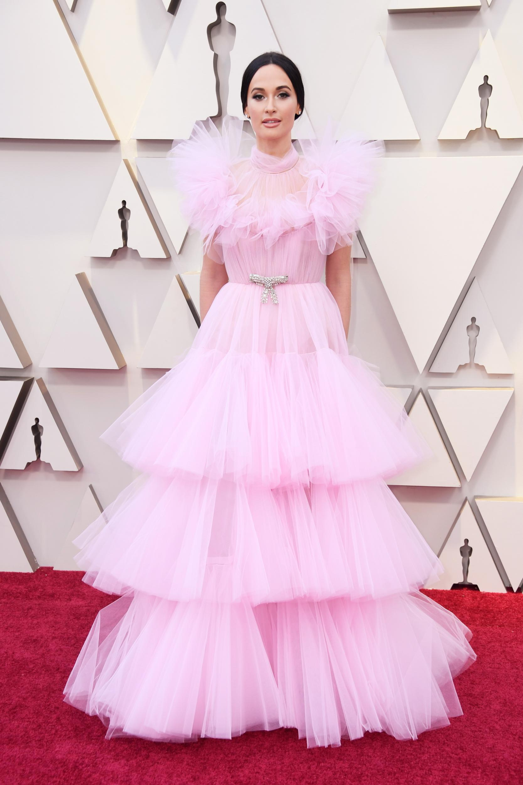 1a491a23bb03 Oscars pink outfits dominated the red carpet from kacey jpg 1667x2500 Pink  fashion outfits