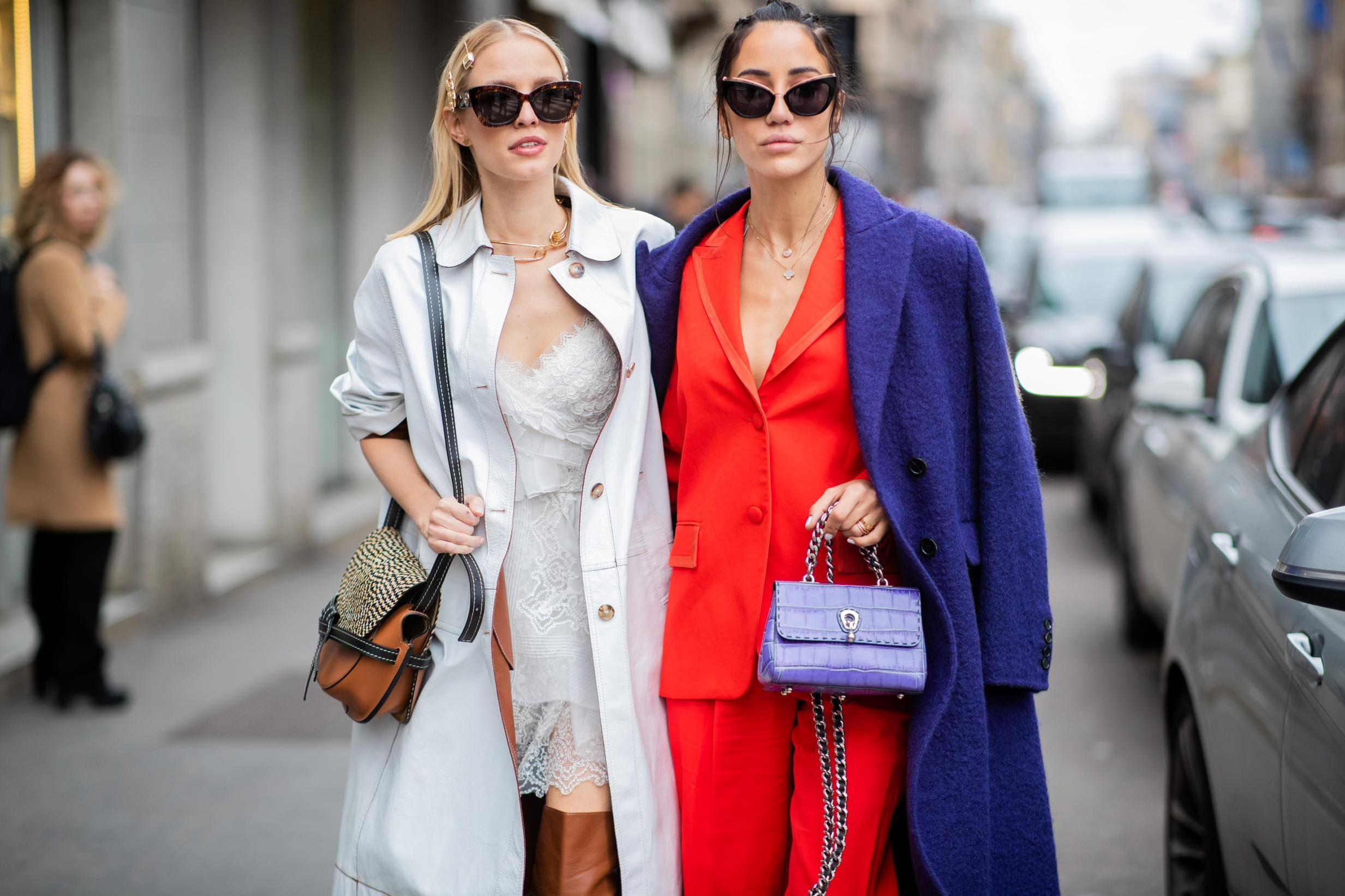 41544c5cf020 Milan Fashion Week: Best street style looks outside Gucci and Prada runway  shows