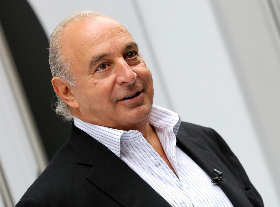 Sir Philip Green's wealth has halved over a year in which he was plagued by scandal