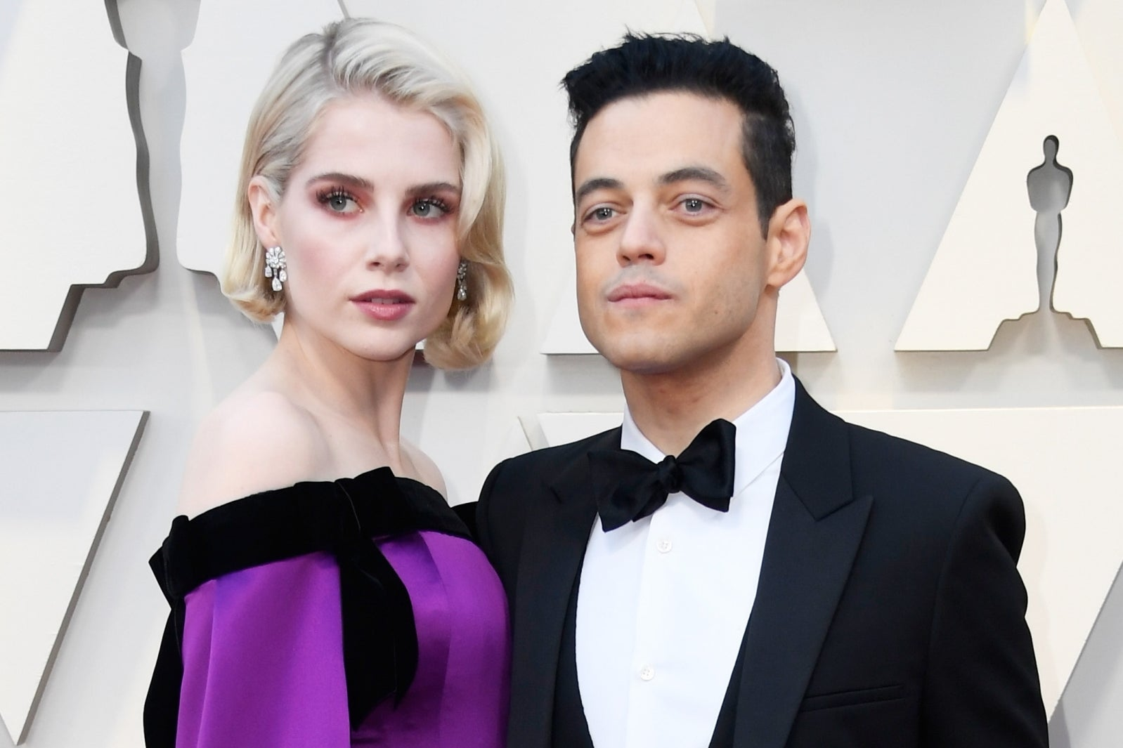 Rami Malek says he is 'so lucky' to be in a relationship with girlfriend Lucy Boynton