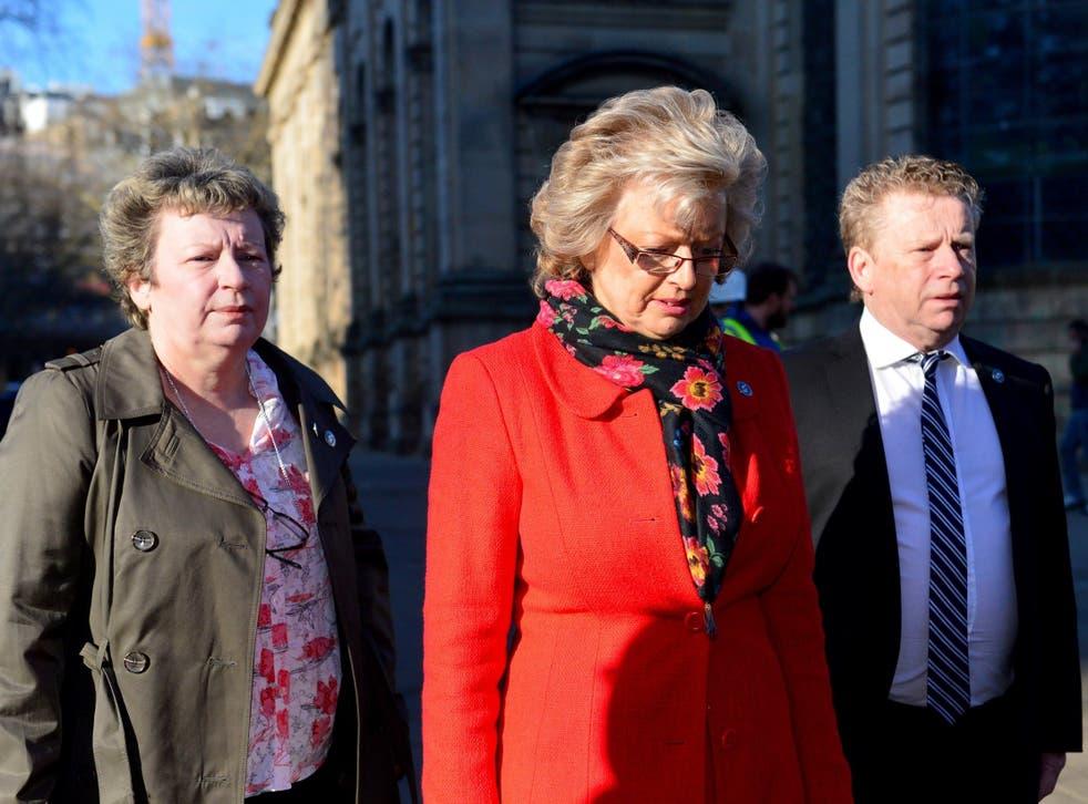 Jayne Hambleton, Julie Hambleton and Brian Hambleton, whose sister Maxine was killed in the Birmingham bombings
