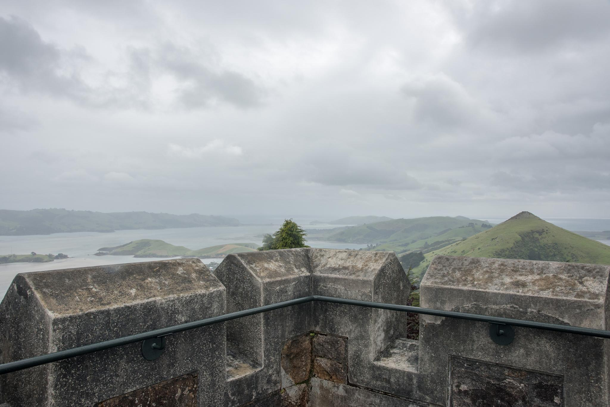 View from Larnach Castle over the Otago Peninsula