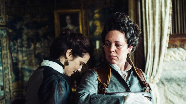 """""""Macabre and fraught though The Favourite gets, this isn't so much a film about sex or power as it is about plain mischief. It's a hilarious, buffoonish pleasure, right down to the sets and costume design, and a breeze to spend 120 minutes with."""" <i>Christopher Hooton</i>"""
