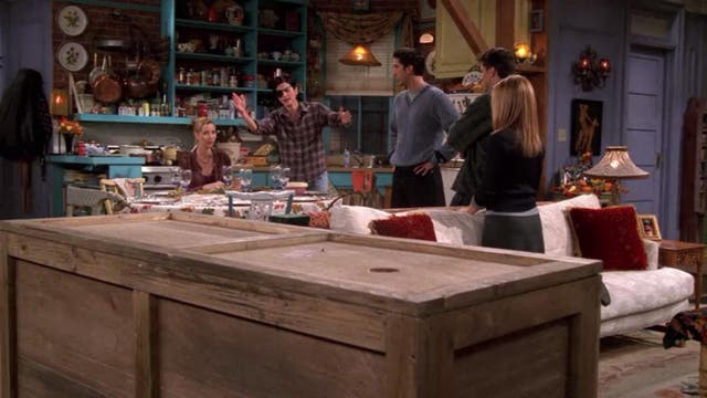 <strong> Season four, episode eight</strong>  <p> This list wouldn't be complete without a post dedicated to Chandler and Joey's friendship. After a multi-episode arc that sees Chandler falling for and then kissing Joey's girlfriend Kathy, the former is struggling to get his roommate to forgive him. Joey thus sentences him to spending Thanksgiving inside a wooden crate. Kathy, of course, shows up during dinner to give Chandler an emotional farewell – prompting Joey to open Chandler's box and tell his friend to go be with Kathy. Sweet.
