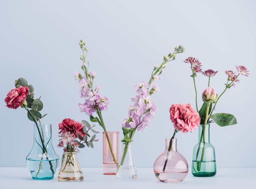 Little squat vases come in handy for those smaller stocky blooms, such as short stemmed hydrangeas