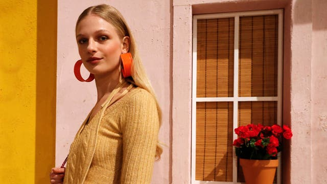 When it comes to earrings, the bigger the better, right? These weighty oversized orange earrings will do the job.