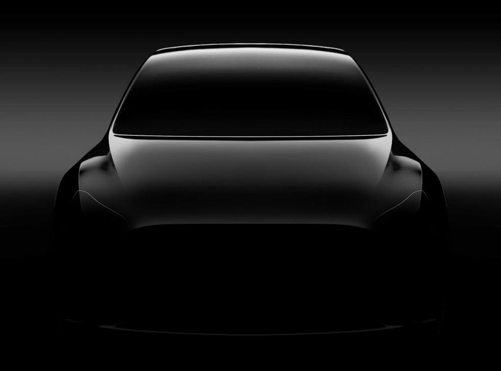 Tesla teased an image of the Model Y in 2107