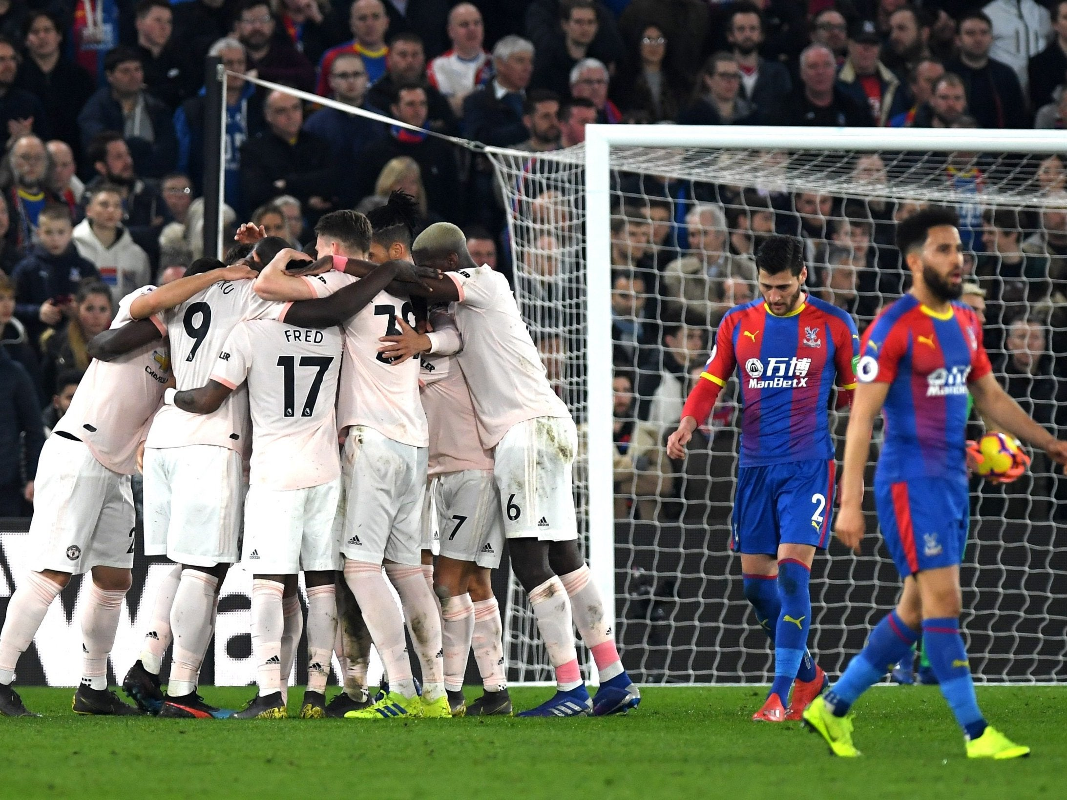 Crystal Palace Vs Manchester United, Player Ratings