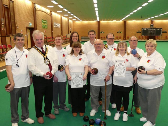 Stephen Ricketts (left) started the Llanelli Visually Impaired Bowls Club in Wales after he unexpectedly went blind