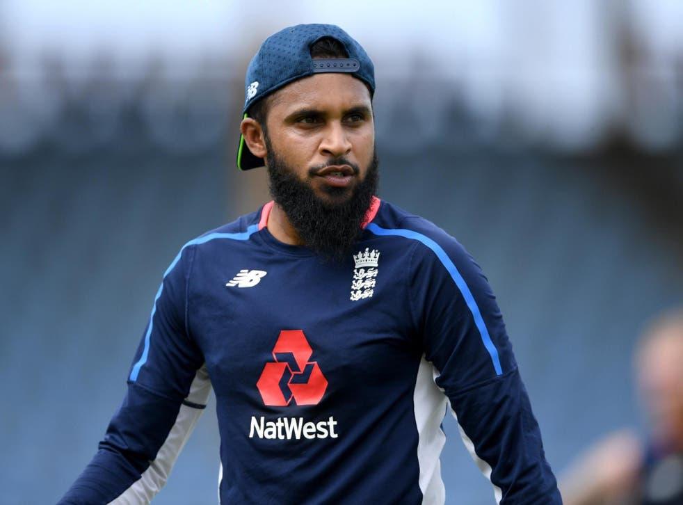 Adil Rashid in training for England ahead of the fifth ODI