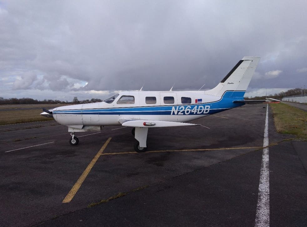 The Piper Malibu aircraft, N264DB, that crashed in the English Channel carrying footballer Emiliano Sala and pilot David Ibbotson