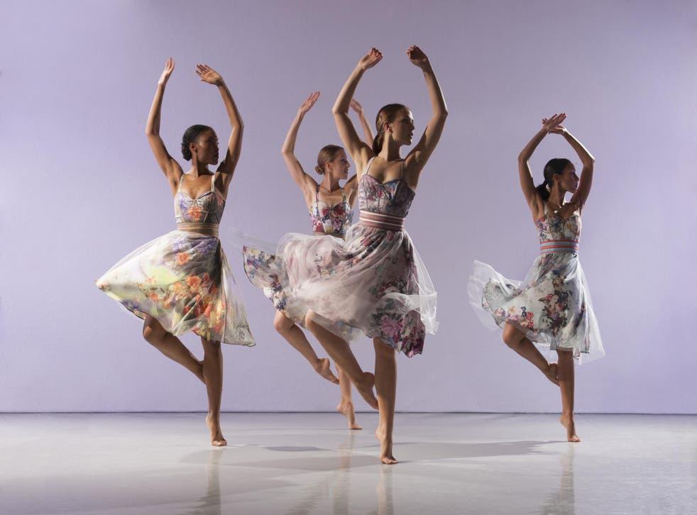 A dash of drama: Dancers Monique Jonas, Elly Braund, Melissa Braithwaite and Ellen Vilma in Richard Alston's new 'Brahms Hungarian'