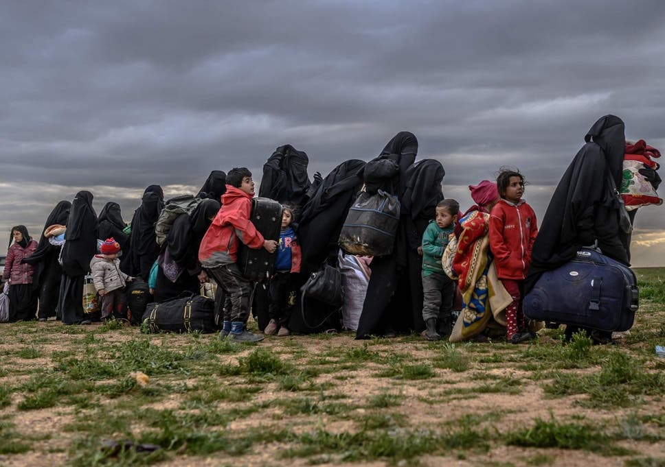 The number of men, women and children fleeing the former Caliphate and turning up as refugees in Syria is expected to double