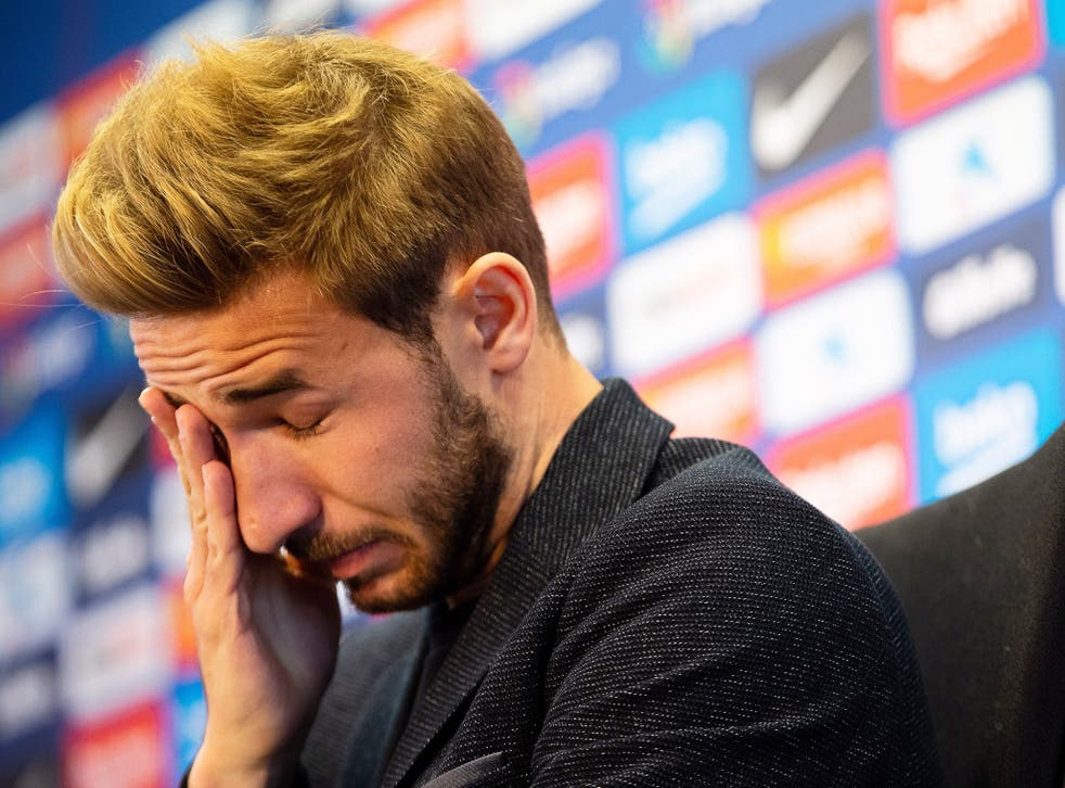 Sergi Samper, 24, has agreed to terminate his Barcelona contract