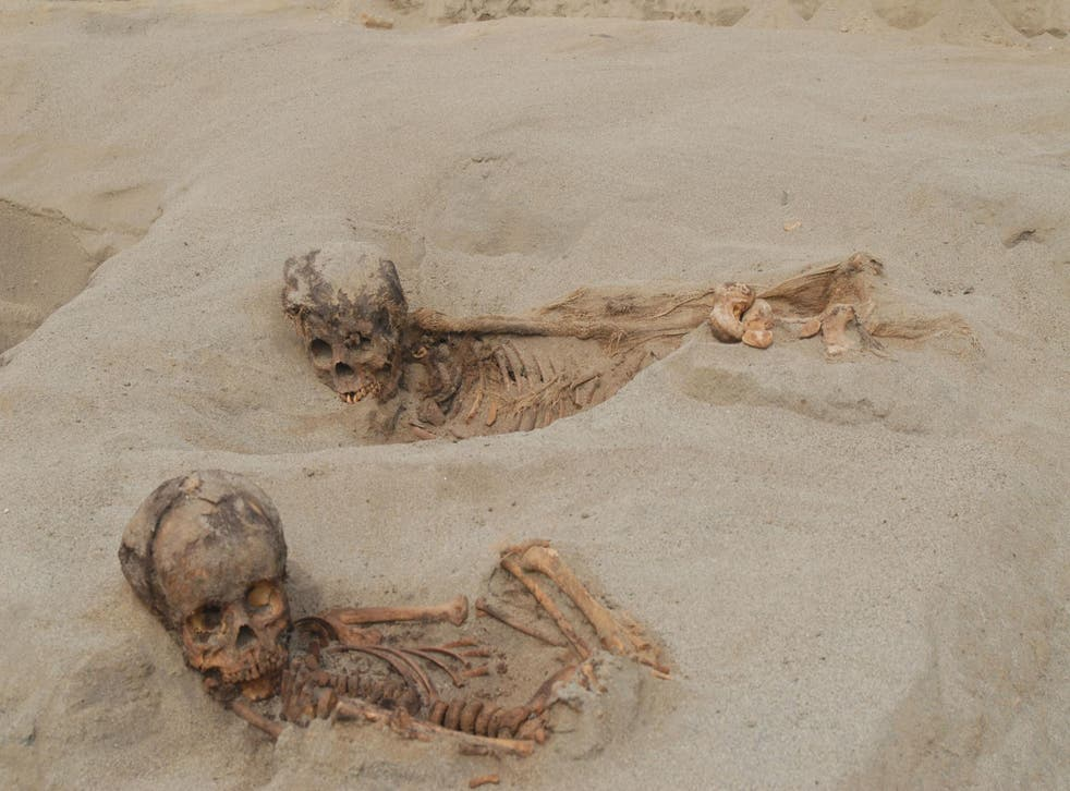 The bones of over 100 children were found at a site in Peru, some with evidence of having their hearts ritualistically removed