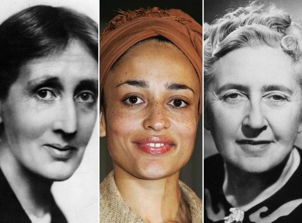 (Left to right) Virginia Woolf, Zadie Smith, and Agatha Christie