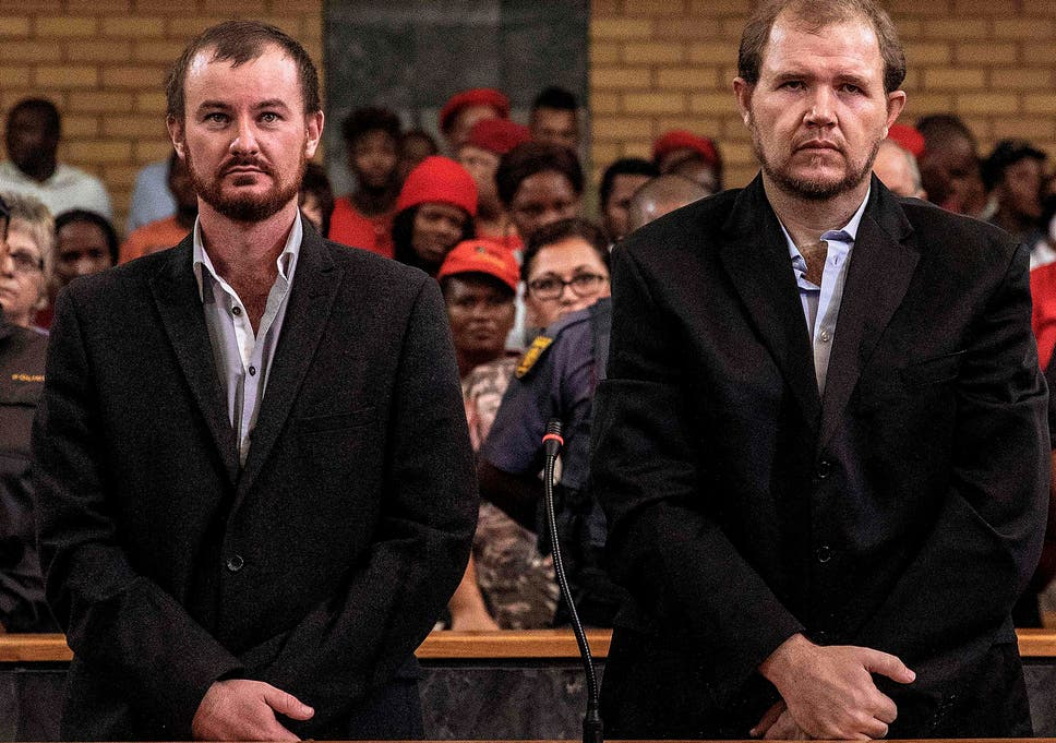 Pieter Doorewaard and Phillip Schutte were jailed for killing a black teenager who they accused of stealing sunflowers