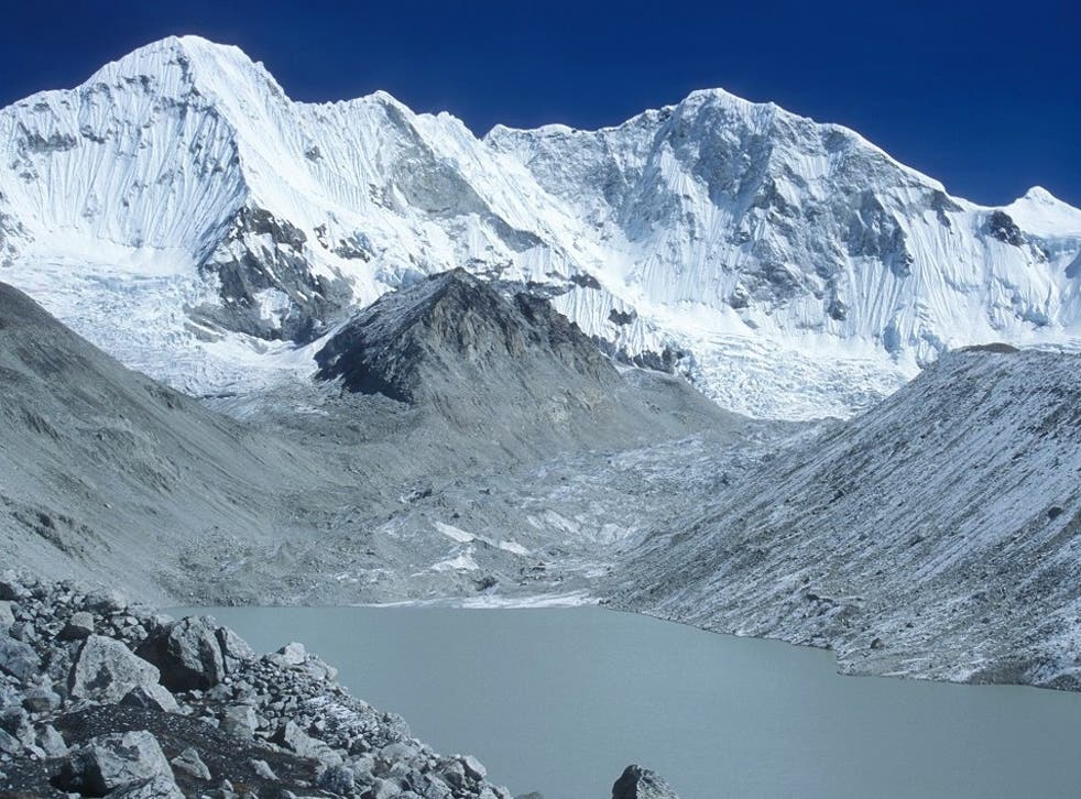 The Himalayas: using climate projections, researchers believe the glacier melt will start to slow in around 2050