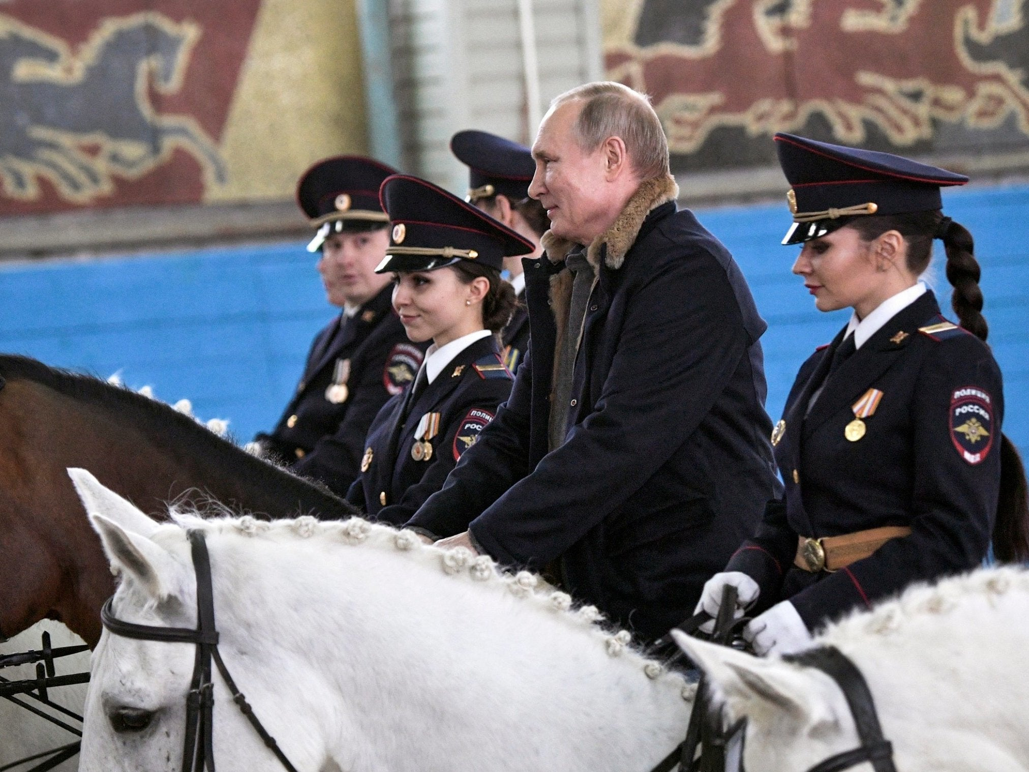 Putin Humiliated By His Horse At International Women S Day Event The Independent The Independent