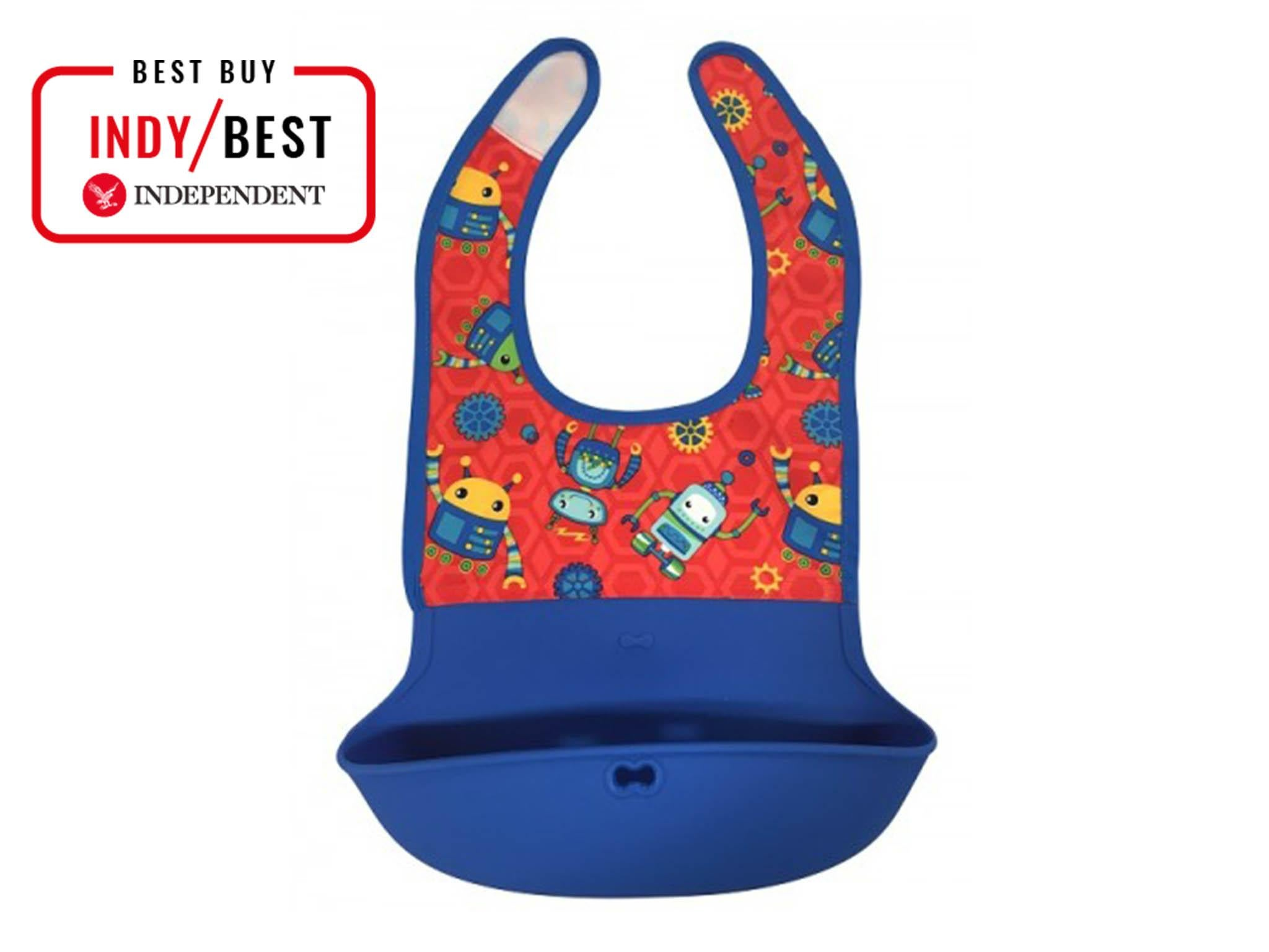 35ec4ff3139 Nuby lock n roll bib in blue  £2.99 Nuby
