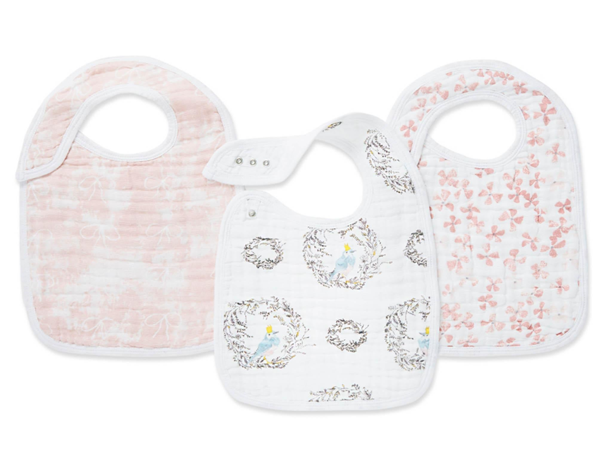 Birdsong three-pack snap bibs  £19.95 aden + anais 2373e93461