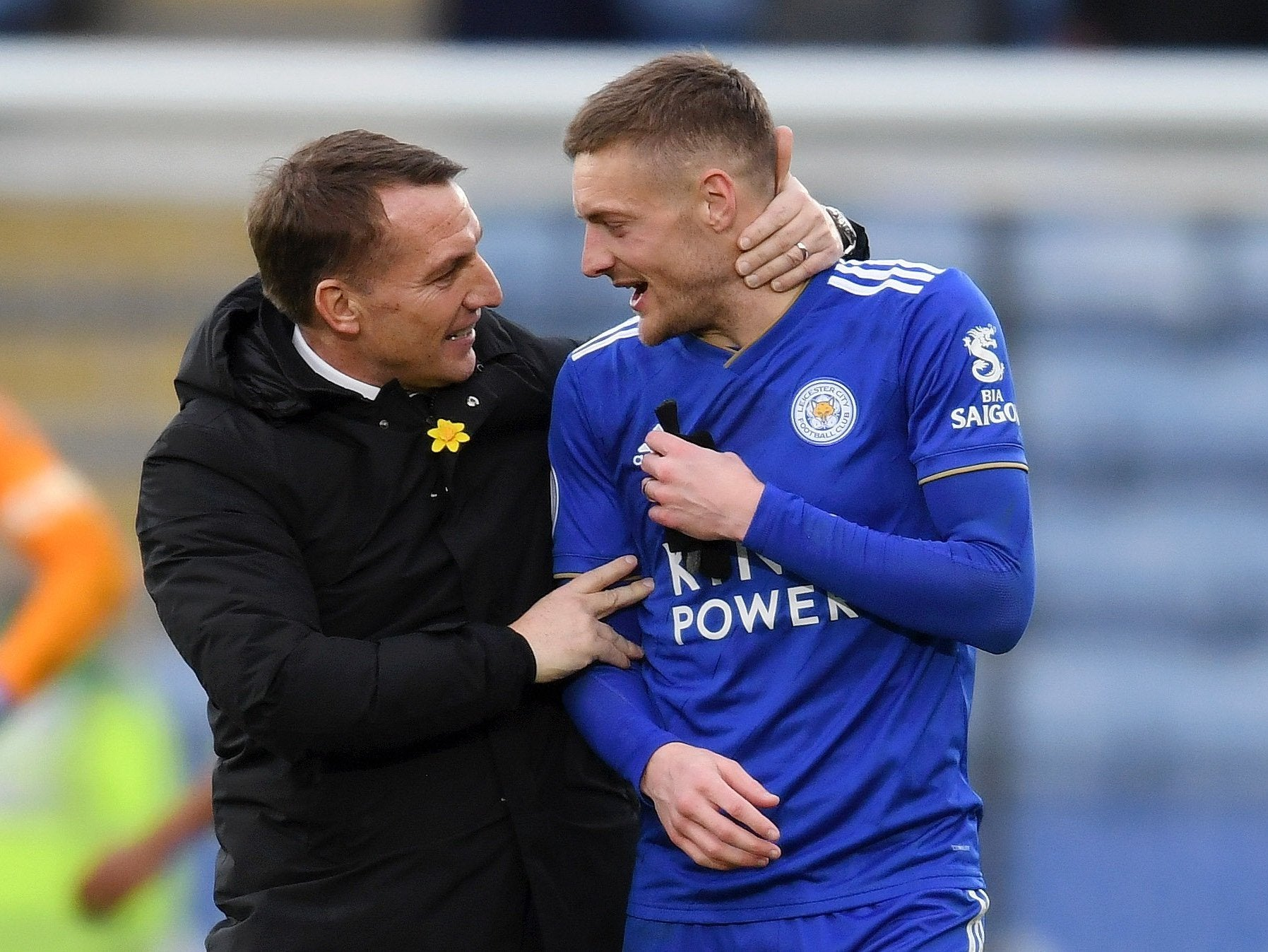 987d17ddaef Rodgers backs Vardy to reach Premier League century