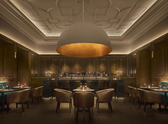 The super-sexy Oak Room steakhouse