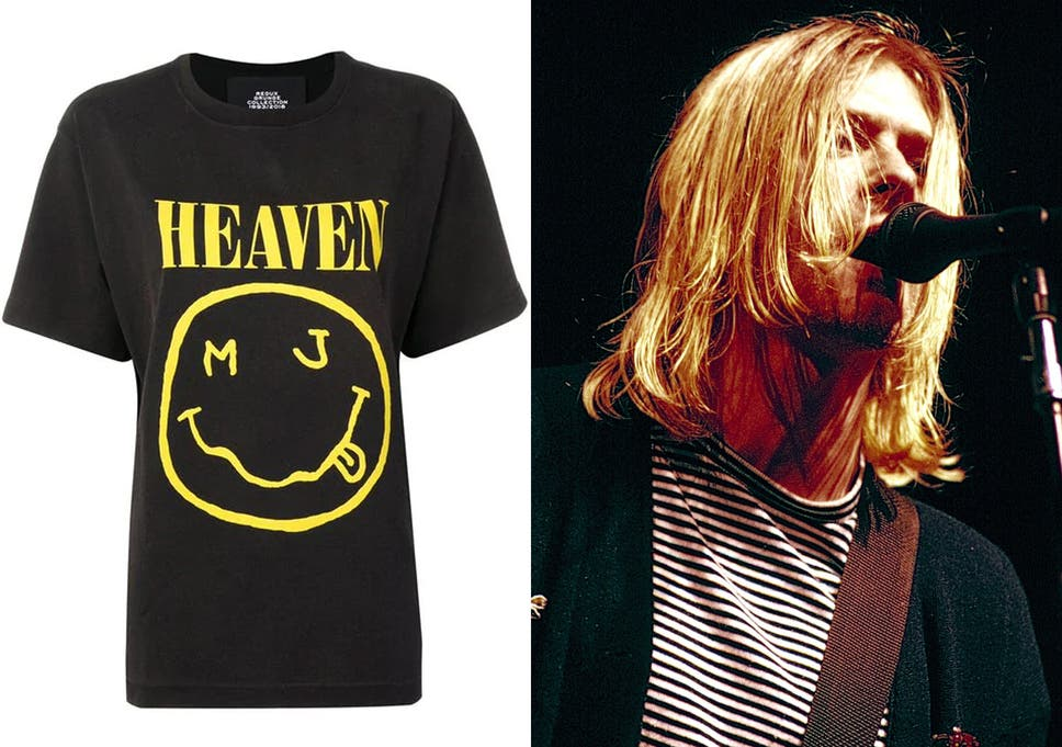 premium selection e3ec2 133ea Marc Jacobs denies stealing Nirvana 'happy face' logo on T ...