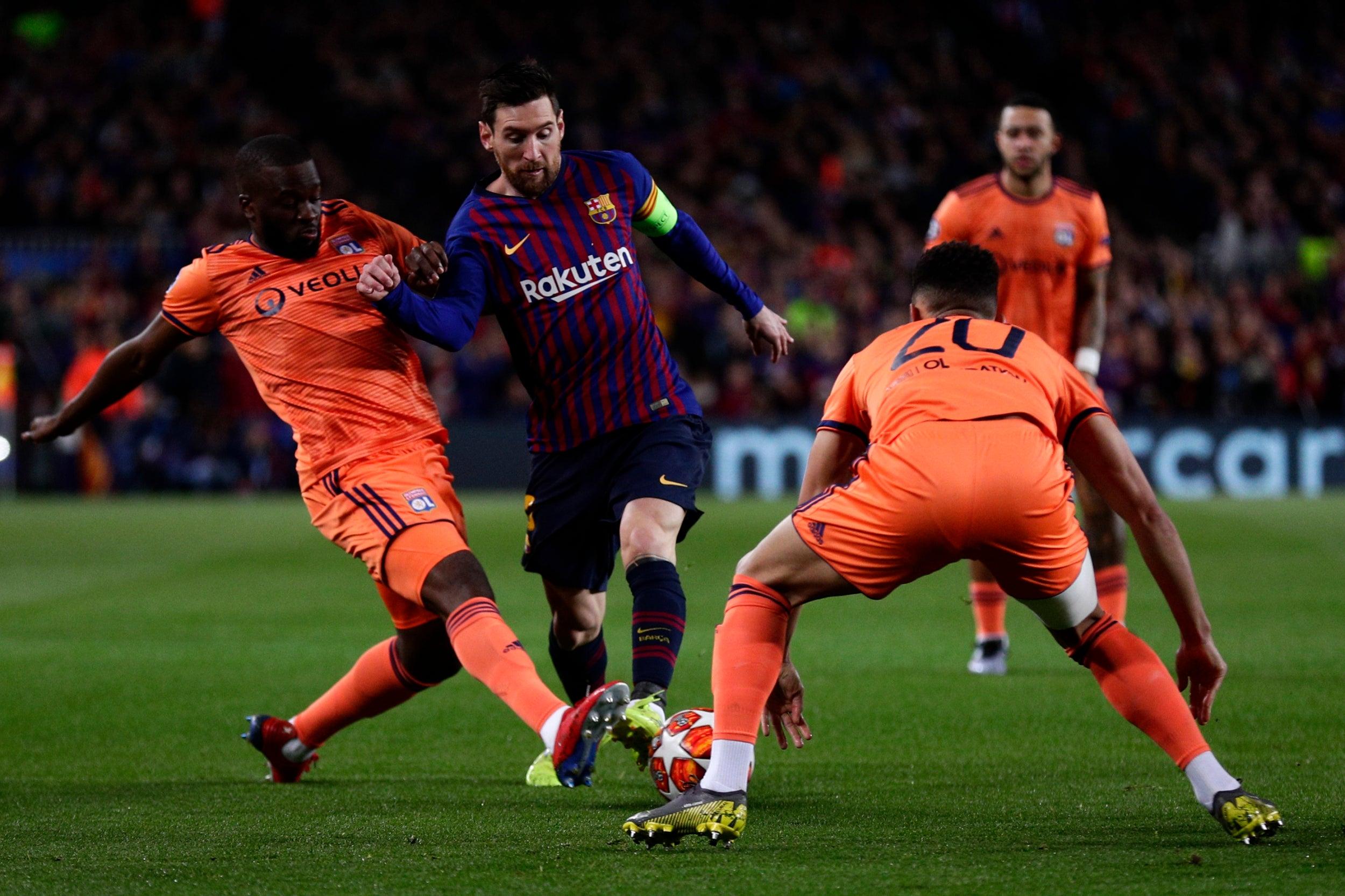 Image result for Barcelona vs Lyon