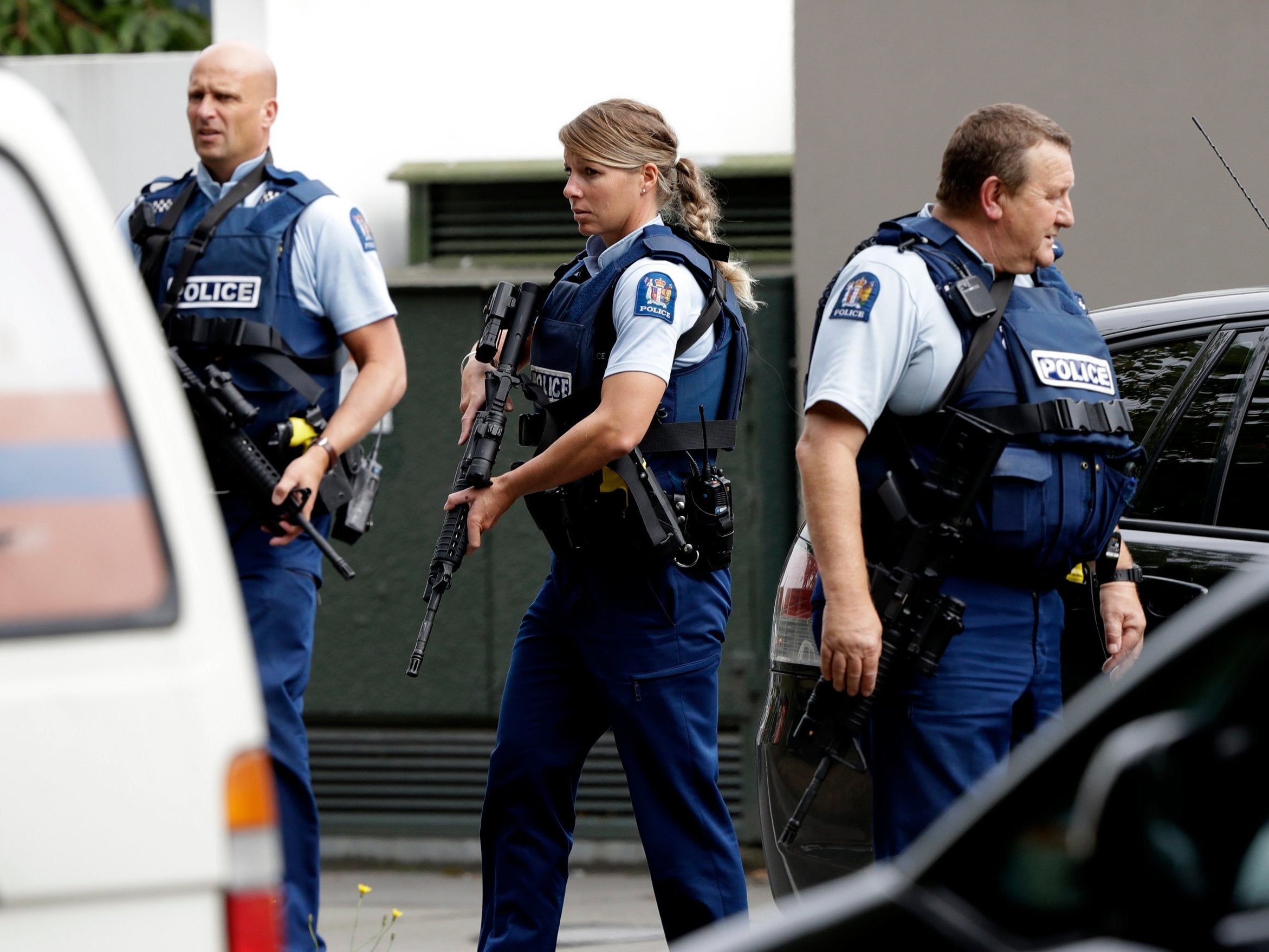 New Zealand Mosque Attack Photo: New Zealand Mosque Attack: Armed Police Deployed In