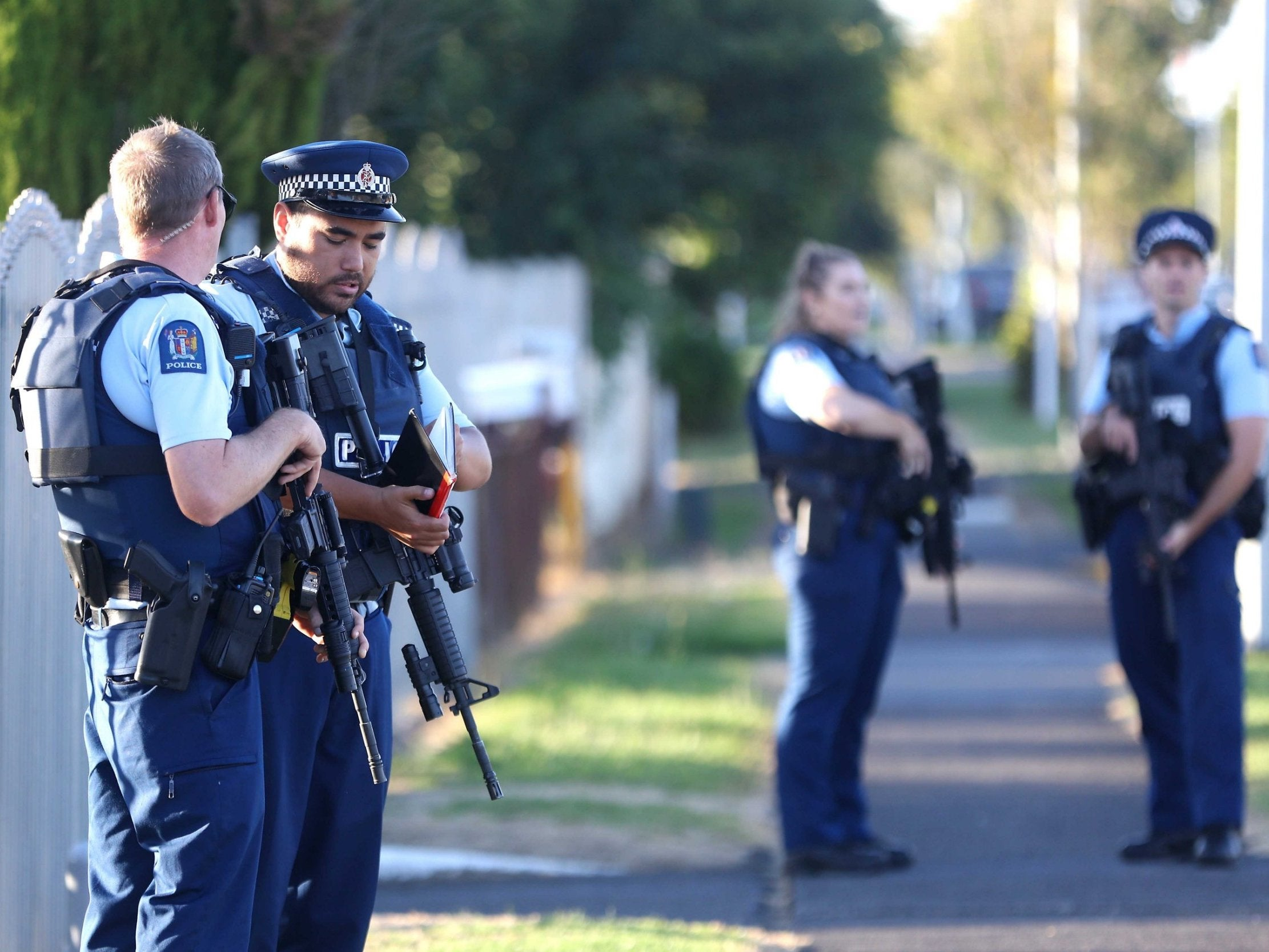 New Zealand Shooter Live Stream Image: Live: Police Evacuate Neighbours Of