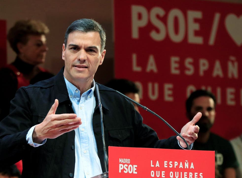 Pedro Sanchez's Socialists are currently leading in the polls and set to become the country's largest party