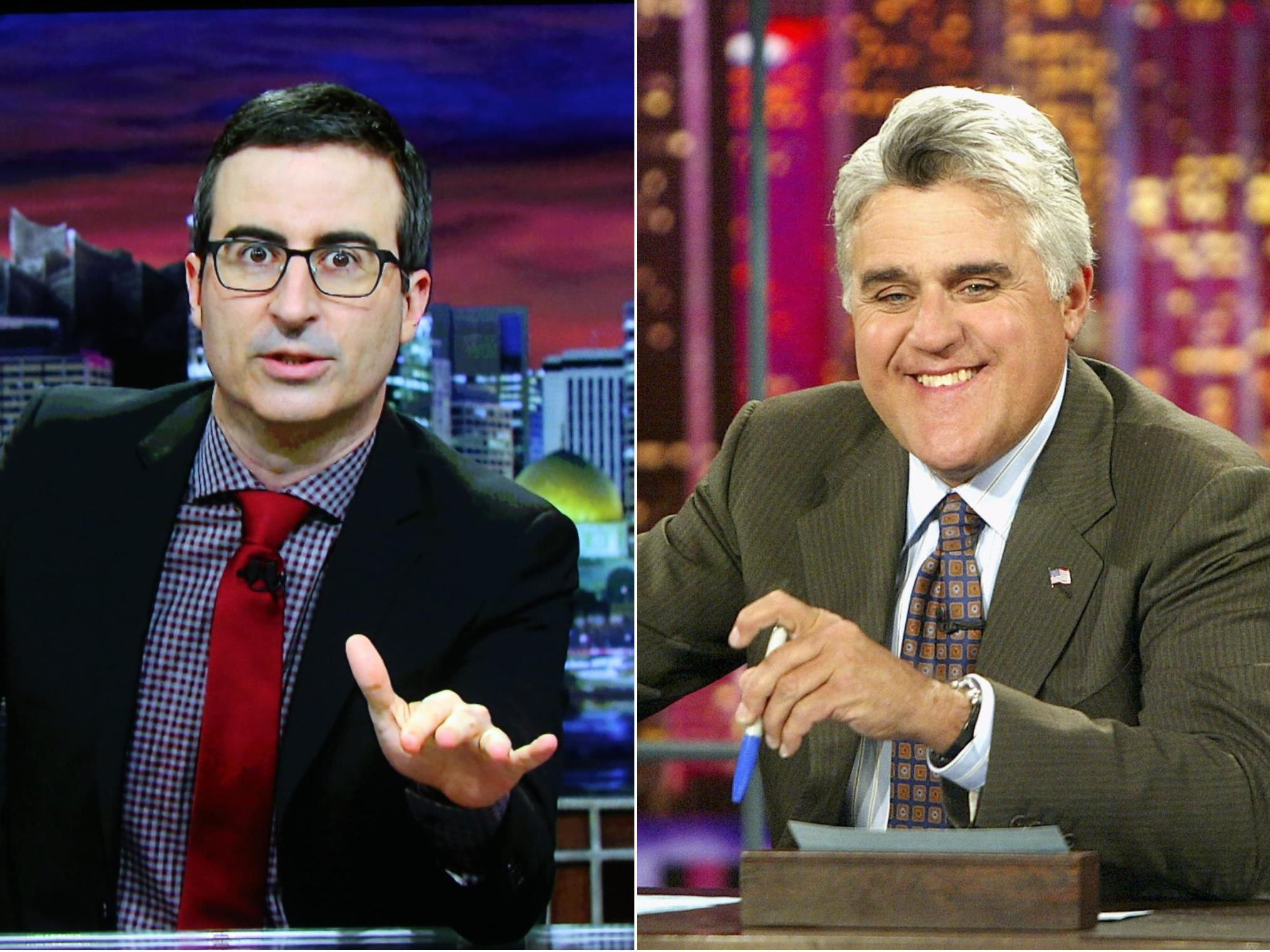 John Oliver tells Jay Leno to 'go f*** himself' in row over late night 'civility' comments