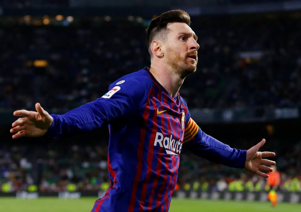 a1d6affb25d Lionel Messi scored the 51st hat-trick of his career as Barcelona beat Real  Betis