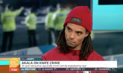 Akala praised for knife crime debate on Good Morning Britain that made Piers Morgan 'sit up and listen'
