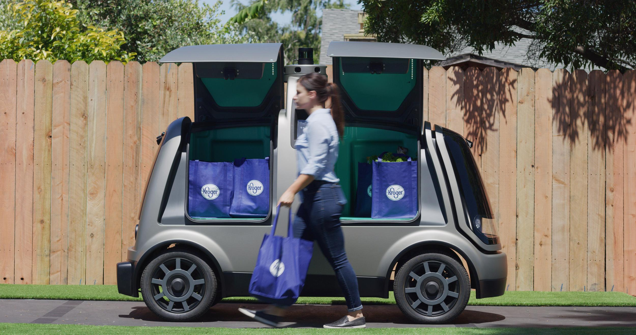 Driverless cars to transport shopping for new home delivery service