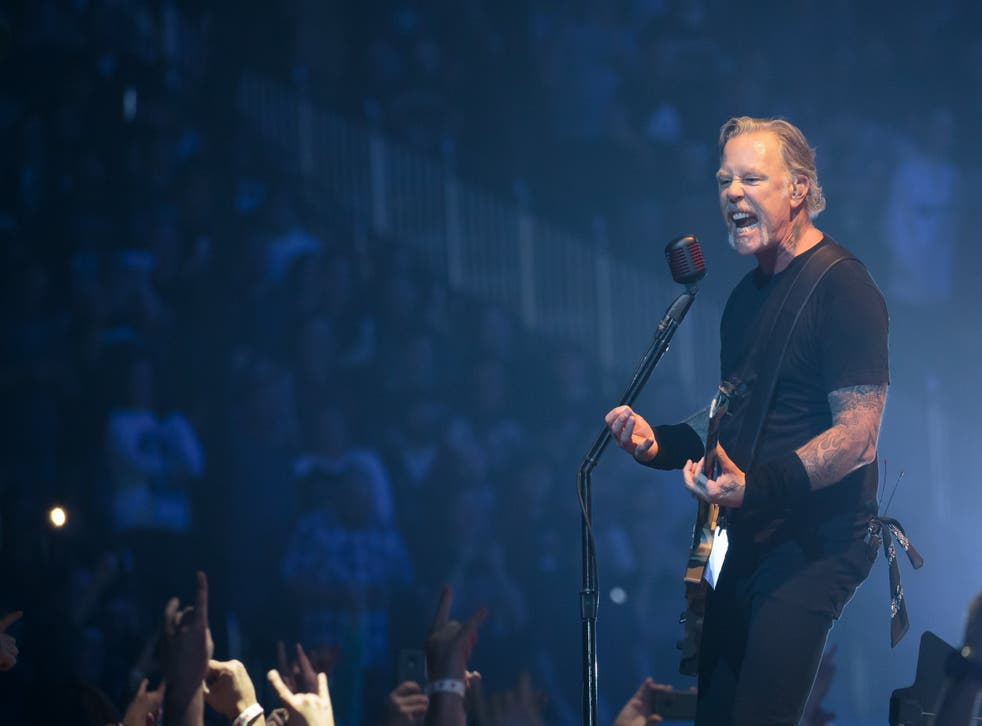 James Hetfield of Metallica performs at Sprint Center on March 6, 2019