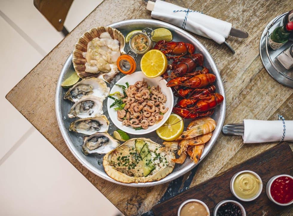 Fish Market's piece de resistance: the seafood platter