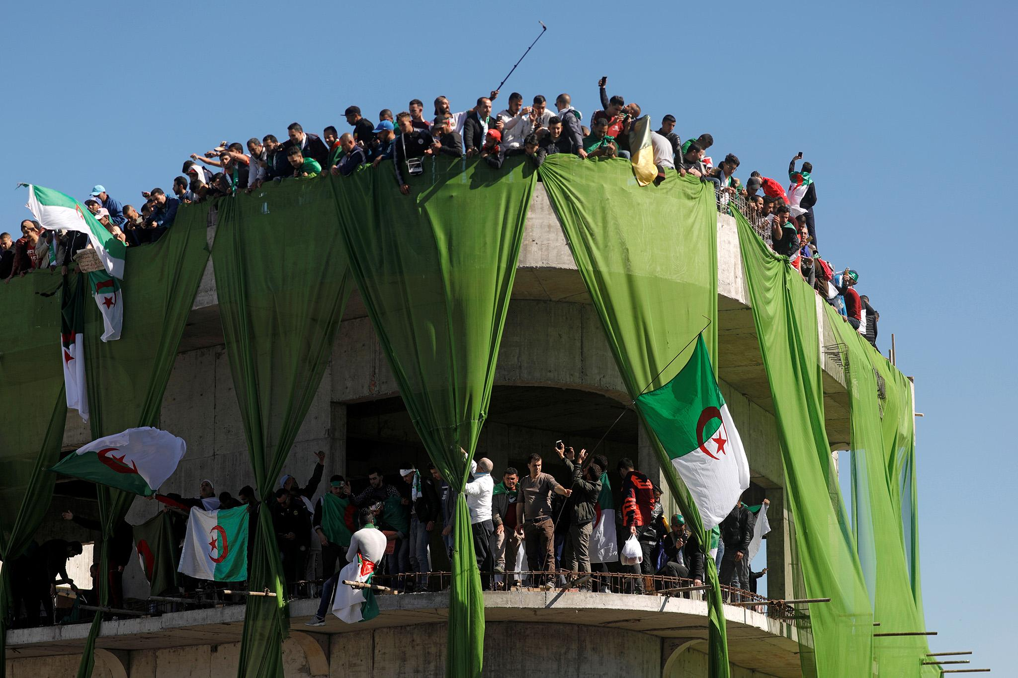 People Vs  Pouvoir: Demonstrators take on Algeria's shadowy