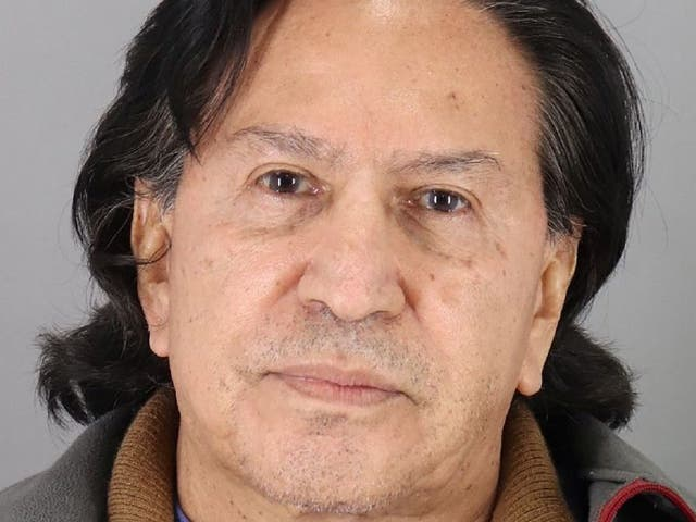 The former president of Peru after his arrest for public drunkenness
