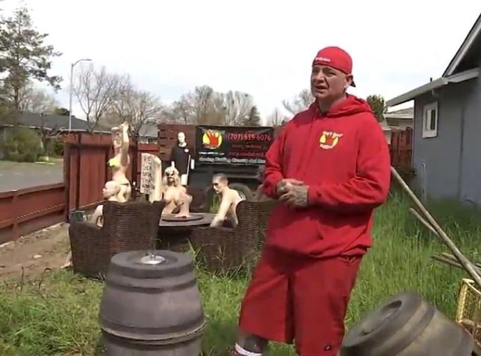 CA man installs naked mannequin display after neighbor