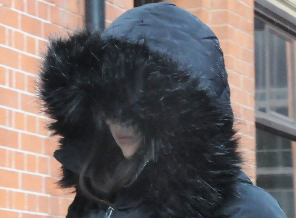 Alice Cutter, from West Yorkshire, leaving Birmingham Crown Court