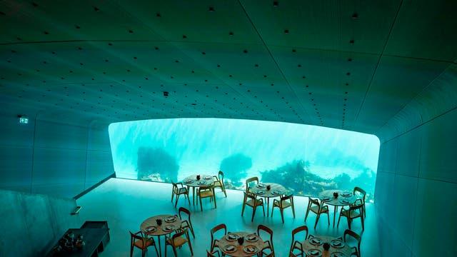 Under, Europe's first underwater restaurant, opened on 20 March.